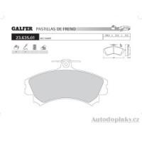 GALFER přední brzdové desky typ FDA 1045 MCC - SMART SMART FORFOUR 1.1i 12V -- rok výroby 04- ( brzdový systém GIR )
