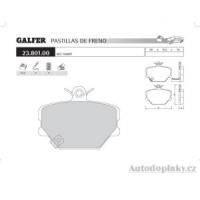 GALFER přední brzdové desky typ FDR 1065 MCC - SMART SMART FORTWO 0.6i Turbo /Cabrio -- rok výroby 98-03 ( brzdový systém BCH )