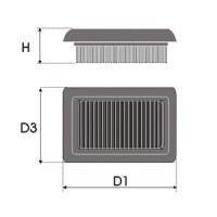 Sportovní filtr Green MERCEDES SMART FORFOUR 1,5 výkon 80kW (109hp) rok výroby 04-